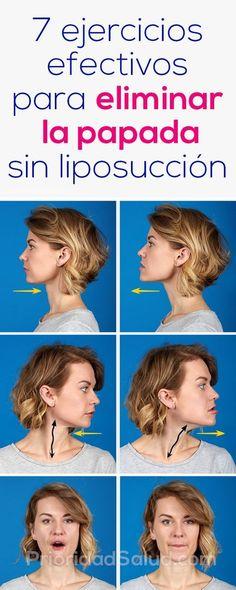 Como quitar la papada y adelgazar la cara sin liposuccion con estos 7 ejercicios efectivos.