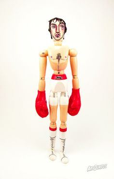 Rocky Balboa Art Doll  Sculpture  Unusual Art  by ArtDuritos, $98.00