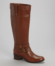 Look what I found on #zulily! Brown Cavendish Wide-Calf Leather Boot by Bandolino #zulilyfinds