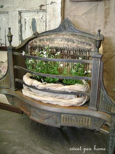 a funky re-purposing of an old galvanized piece...sweet pea home