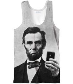 Abraham Lincoln Selfie Tank Top – Shelfies - Outrageous Sweaters