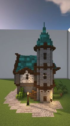 Testing out different palettes, quite like how this turned out. : Minecraft Plans Minecraft, Minecraft Building Guide, Minecraft Farm, Minecraft Cottage, Cute Minecraft Houses, Minecraft House Designs, Minecraft Survival, Minecraft Construction, Amazing Minecraft
