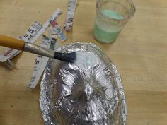 Paper mache onto any armature without damaging it, by using foil! -- Adventures of a Middle School Art Teacher: 8th Grade Sugar Skull masks