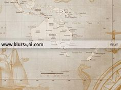 24 best world maps modern world maps in vintage style images on vintage map with sea monsters and sail ships custom names world map print map gumiabroncs Gallery