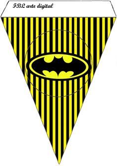 Batman en Amarillo y Negro: Imprimibles Gratis para Fiestas.