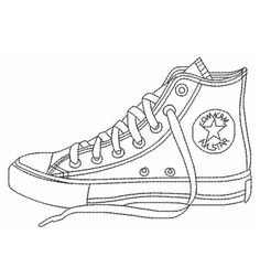 Converse shoes coloring pages printable - Enjoy Coloring Converse Chucks, Outfits With Converse, Converse All Star, Converse Chuck Taylor, Custom Converse, Black Converse, Sneakers Shoes, On Shoes, Shoes Men