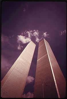 """todaysdocument: """" The Twin Towers of the World Trade Center officially opened 40 years ago on April At the time of their completion they were the tallest buildings in the world. These photos, taken shortly after the World Trade Center was. World Trade Towers, World Trade Center Nyc, Trade Centre, Beautiful Buildings, Beautiful Places, 11 September 2001, New York City, Cool Pictures, Scenery"""