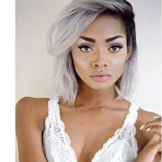 Светло серый цвет волос. 20+ образов с серебристыми волосами