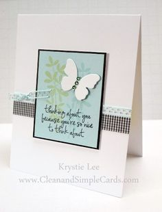 Just Because card made with A Muse Studio - Cleanandsimplecards.com