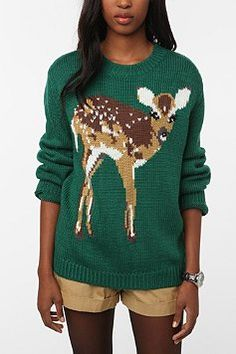 Hello cute little deer sweater! Would you like to come home with me?