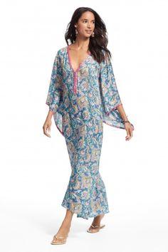 Enjoy an additional 60% off sale prices. Printed silk caftan.