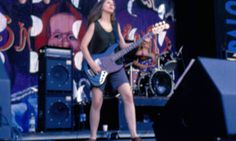 American punk band Babes in Toyland on stage at Lollapalooza Festival California 1993
