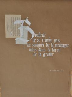 citations calligraphiées