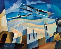 Tullio Crali (Italian, 1910–2000) Title:     Incursione aerea , 1933