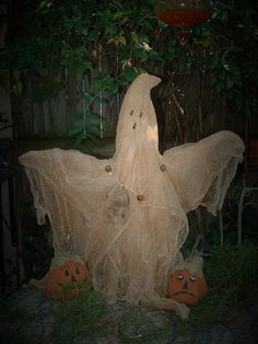 Primitive Halloween Ghost Table Doll
