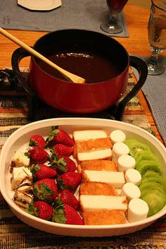 chocolate fondue + Christmas Breakfast