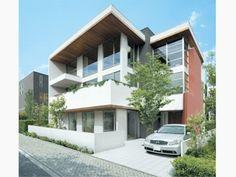 3階建て 二世帯 Garage Doors, Outdoor Decor, House, Home Decor, Decoration Home, Home, Room Decor, Home Interior Design, Homes