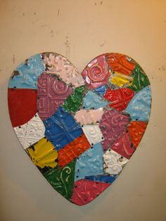Tin Ceiling Wrapped Heart