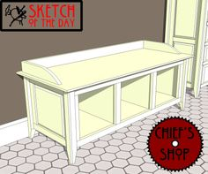 Sketch of the Day: Bath Bench