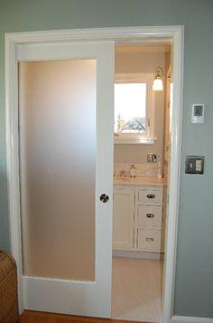Translucent sliding door for master ensuite