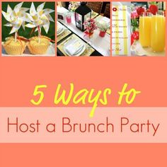 Party Ideas | With Easter, bridal and baby showers, and Mother's Day, spring is the perfect time to host a brunch. Here are five fun ideas to help plan your next brunch party!