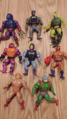 Masters of the Universe He man Lot of 8 vintage figures 1980s motu skelator  #mattel