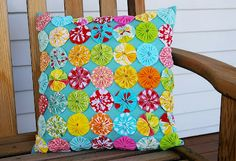 Not Your Grannies Yo Yo Pillow at During Quiet Time