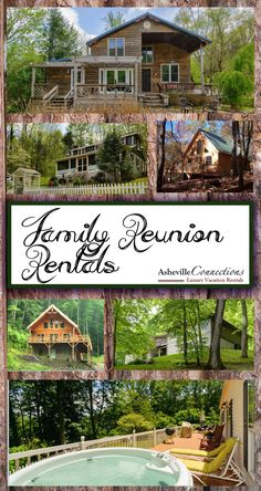 There is no better place to host a family reunion that the NC mountains!! Let Asheville Connections find just the right property (or two) that will meet your vacation and reunion needs! Call today.