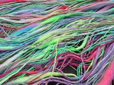 Handspun Yarn Handspun Hand Dyed Hand Painted Art von PastoralWool auf Etsy
