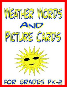 Original artwork weather and seasons picture cards, and matching words cards. Perfect for science centers, calendars, weather lessons, flash cards, matching games, and lots more! $