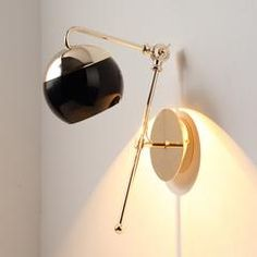 Met wall mini dome light sconce in two tone: black and gold – Tudo And Co