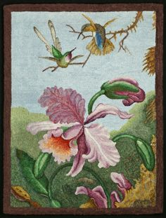 Hooked rug by Roland Nunn - From the art work of Martin Johnson Heade (with permission)