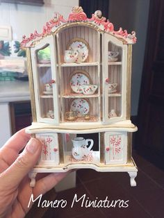 1:12 display case Cabinet for dollhouses miniature
