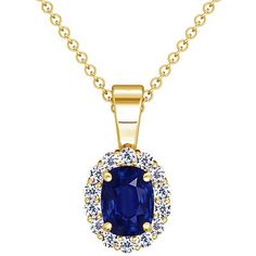 18K Yellow Gold Cushion Cut Blue Sapphire And Round Diamond Pendant GemsNY,http://www.amazon.com/dp/B00BS7L3CS/ref=cm_sw_r_pi_dp_7WQZsb1W6NEF99C6