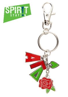 Alpha Gamma Delta Charm Key Chain-On sale this week! (1/20-1/26/13)