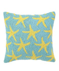 Loving this Yellow Starfish Throw Pillow on #zulily! #zulilyfinds