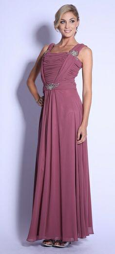 Rosewood Formal Dress Plus Size Chiffon Wide Straps Sequin Dress