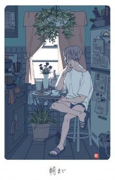 digital art boy with plasters graphic design aesthetic kitchen plants 朝 drawing photoshop adobe anime style asian japanese chinese ethereal g e o r g i a n a : a r t Pretty Art, Cute Art, Aesthetic Art, Aesthetic Anime, Character Illustration, Illustration Art, Wow Art, Image Manga, Illustrations