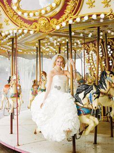 Fun wedding photos at Coney Island!