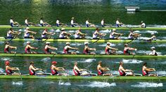 Question: How do you fill the men's 8 rowboat for maximum speed? Hint: The engine room