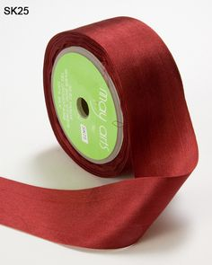 This 1.25 inch burgundy silk ribbon is perfect for card making, sewing, scrapbooking, hair bows and home decor. This 100% silk ribbon is also ideal for wed