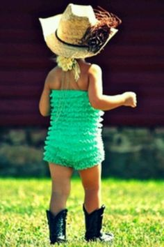 Love the petti romper and boots together