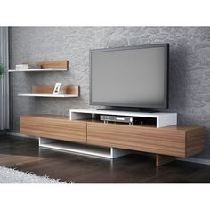 Detayları Göster Comfy Home Zenn Tv Ünitesi - Teak / Beyaz