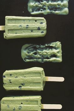 Blueberries and Cream Matcha Popsicles | With Food + Love