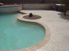 2 Tone Pool Border - add depth to your pool patio.
