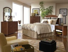 Homelegance Beaumont Headboard Bedroom Set in Medium Brown Cherry Master Bedroom Set, 5 Piece Bedroom Set, Bedroom Sets, Bedrooms, Bedroom Furniture Sets, Home Furniture, Cheap Furniture Stores, Queen Headboard, High Quality Furniture