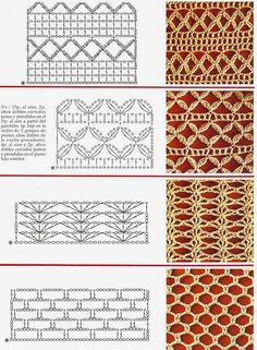 Watch This Video Beauteous Finished Make Crochet Look Like Knitting (the Waistcoat Stitch) Ideas. Amazing Make Crochet Look Like Knitting (the Waistcoat Stitch) Ideas. Crochet Stitches Chart, Crochet Symbols, Crochet Motifs, Crochet Borders, Crochet Diagram, Filet Crochet, Irish Crochet, Knitting Stitches, Crochet Patterns