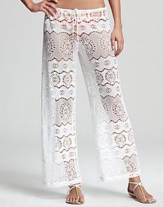 Let some sea breeze in with these lace crochet lounge pants from Ralph Lauren Blue Label: http://www1.bloomingdales.com/shop/product/ralph-lauren-blue-label-ribbon-crochet-cover-up-pants?ID=666032