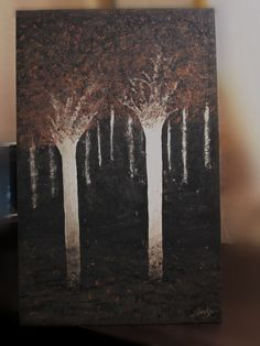 Mandarinos fulgurantes Autor: Amelifes Lobo dorado Autor: Amelifes Acrílico, trementina y resina sobre madera