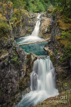 Little Qualicum Falls by Carrie Cole, Vancouver Island, British Columbia Beautiful Park, Beautiful World, Beautiful Places, Beautiful Pictures, Beautiful Scenery, Landscape Photos, Landscape Photography, Nature Photography, Ontario